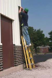 Photo of ladder use