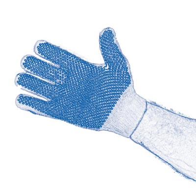 figure 1 PVC-dot grip style gloves for use with drywall
