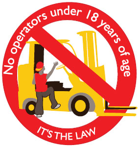 Forklift safety sticker
