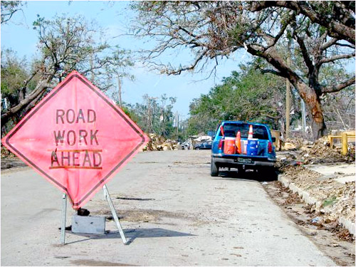 Photo of correct work zone safety