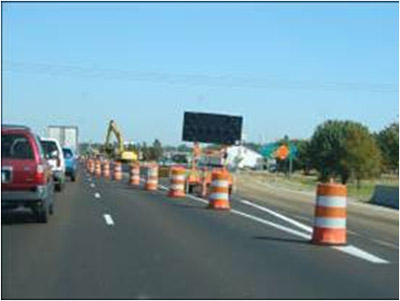 Photo of road work zone