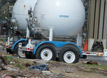 Photo of oxygen tanks