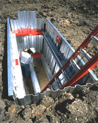 photo of ladder in excavation site