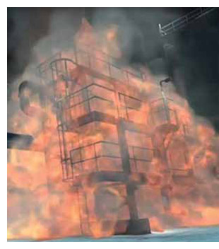 CSB animation of fire in a heat exchanger at the Tesoro Anacortes refinery.