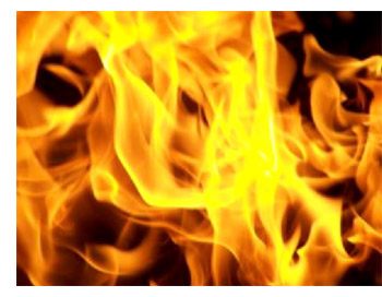 photo of flames