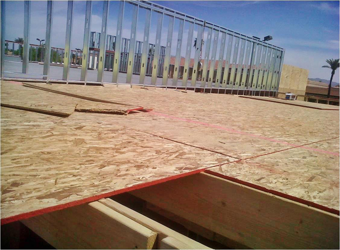 Osb roof decking a 4layer polyglass polyshield roof for Osb thickness for roof
