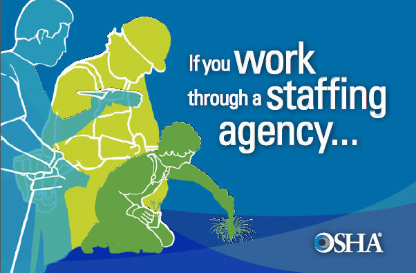 "English graphic- ""If you work through a staffing agency...&quot"