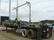 photo of a flatbed trailer and steel