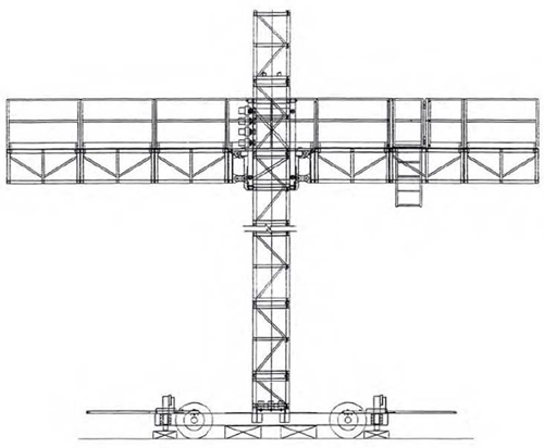 schematic drawing of the scaffolding system