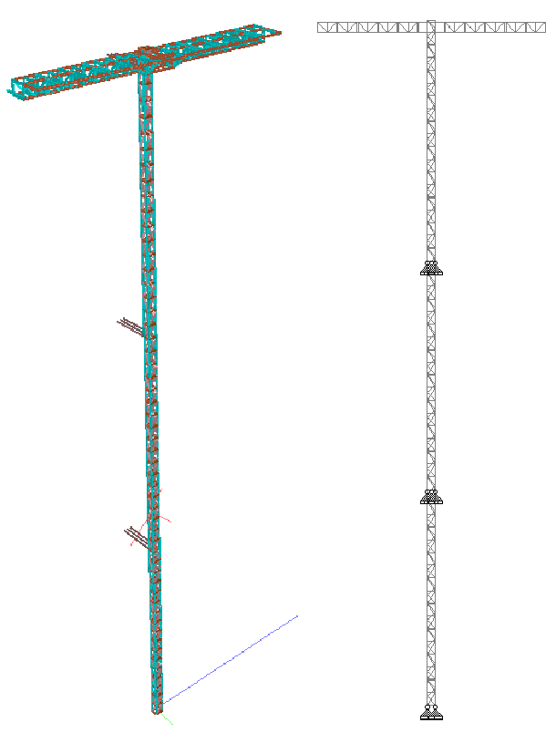CAD mockup of the scaffolding