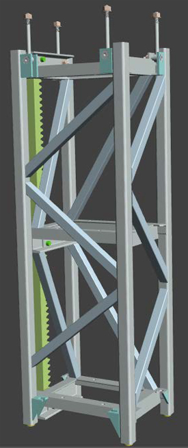 Figure 5 which is a 3-D image of a mast section