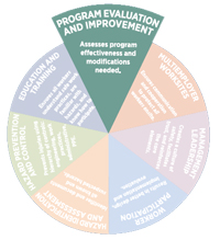 program evaluation and improvement pie slice graphic