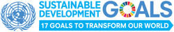 United Nations logo for Sustainable Development Goals- the 17 goals it established in order to transform our world