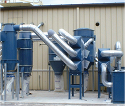 This is a picture of a bulding's customized high volume air filtration system