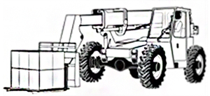 Image drawing of a telescopic forklift