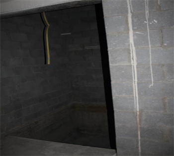 This is a picture of the open elevator shaft.
