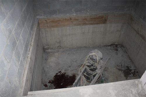 This is a picture of the base of the shaft.