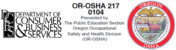Logos for Oregon OSHA and the Department of Consumer and Business Services