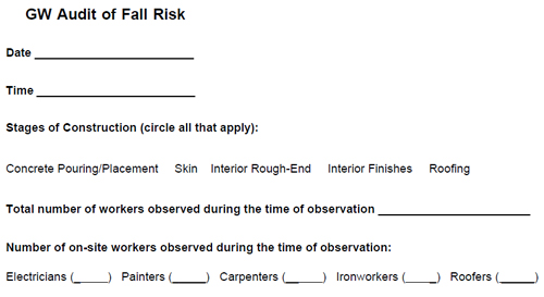 GW Audit of fall risk