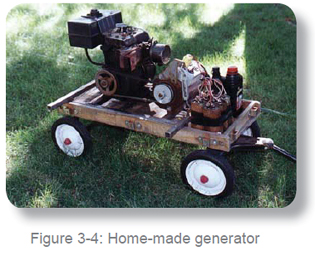 gas-powered mobile generator