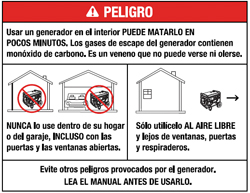 danger warning in spanish