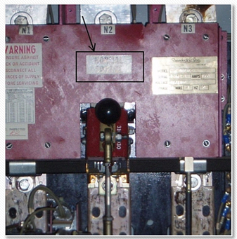 Transfer switch close up