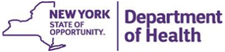 NY department of health logo