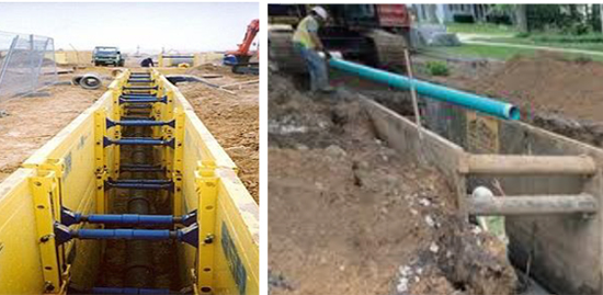 trench shoring examples