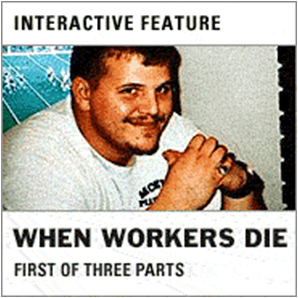 "picture of interactive feature, ""when workers die"""