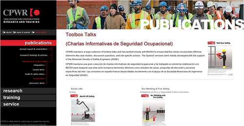 charla informativa/toolbox talks