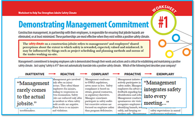 Demonstrating Management commitment headline with critique of management
