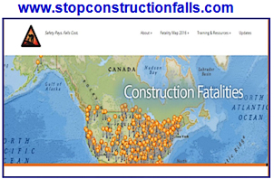 stop construction falls site
