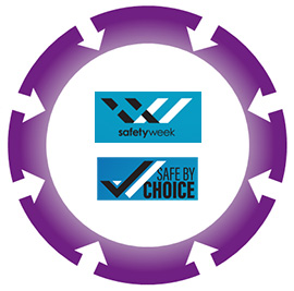 Safety Week and Safe By Choice logos