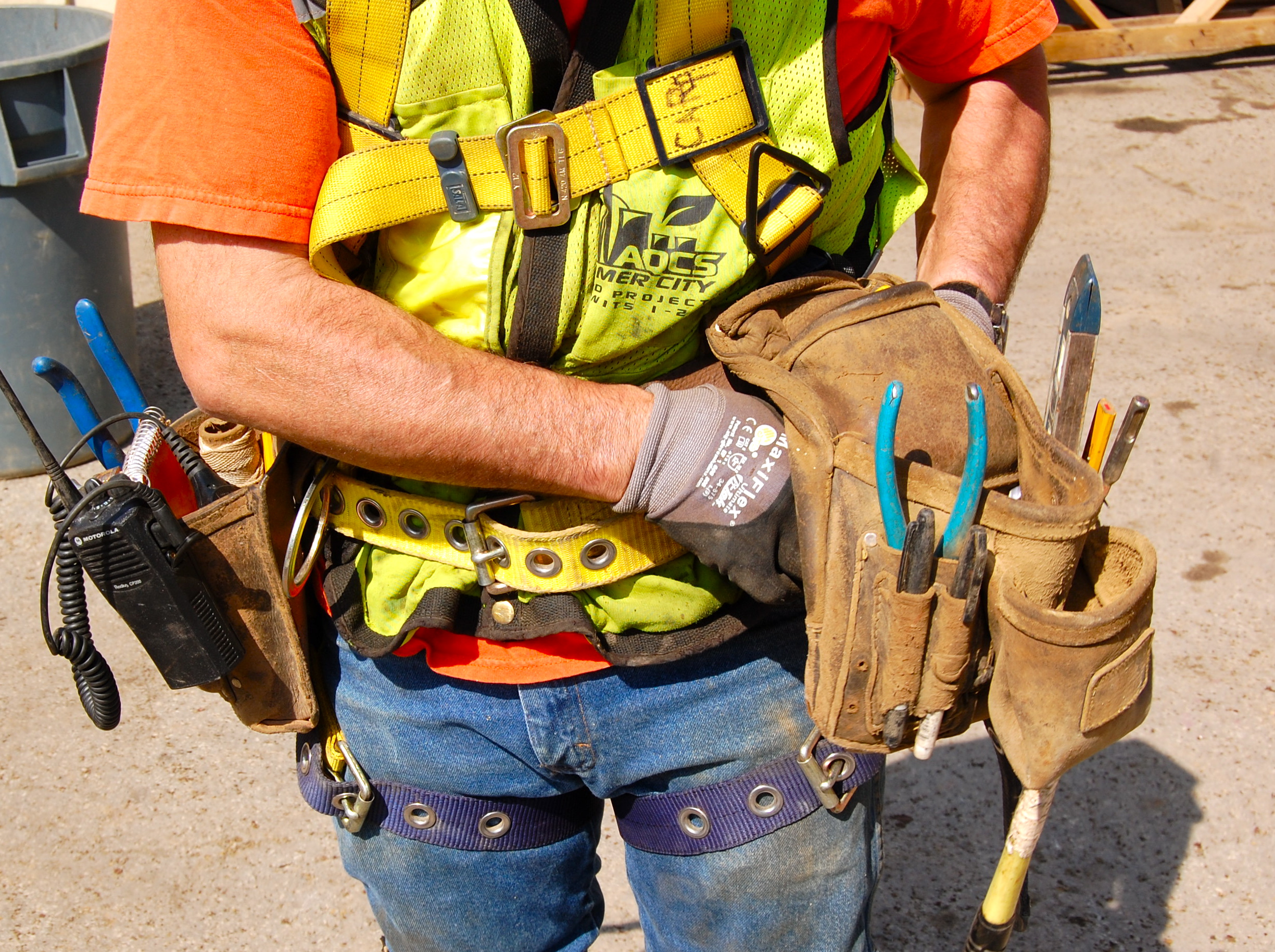 Safety Harness with tool belt