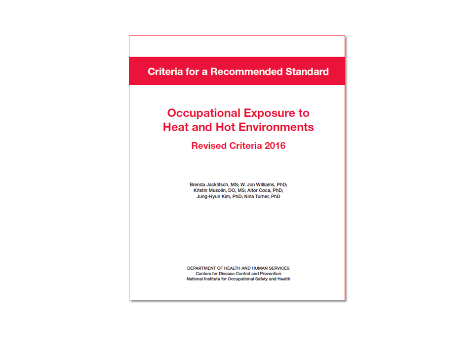 Elcosh Criteria For A Recommended Standard Occupational Exposure